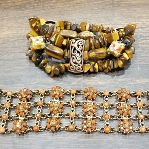 Beaded bracelets (2 items)